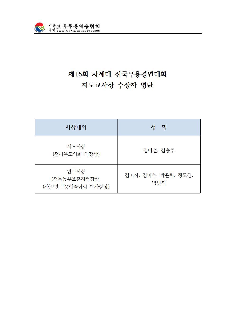제15회 차세대 전국무용경연대회지도교사상수상자.jpg